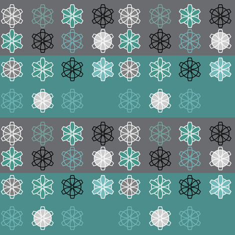 Retro Geometric Snowflakes fabric by heathermann on Spoonflower - custom fabric