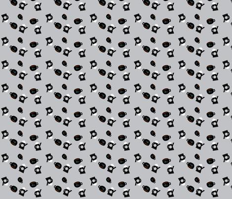 Good Morning Coffee fabric by heathermann on Spoonflower - custom fabric