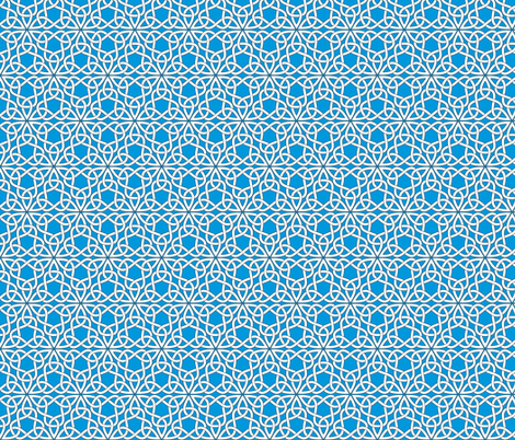 Triangle Knot Blue fabric by shala on Spoonflower - custom fabric