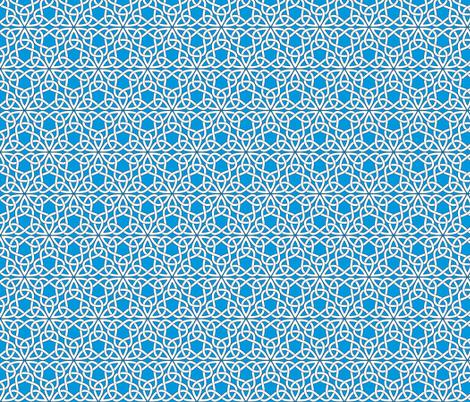Triangle Knot Blue fabric by shala on Spoonflower - custom fabric