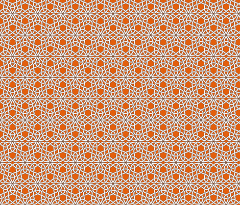 Triangle Knot Orange fabric by shala on Spoonflower - custom fabric
