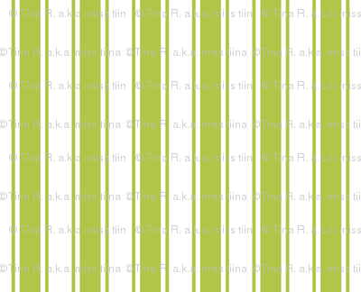 ticking stripes lime green
