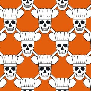 Chef Skull Design in Orange
