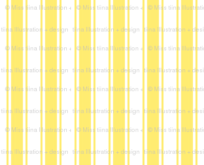 ticking stripes lemon yellow