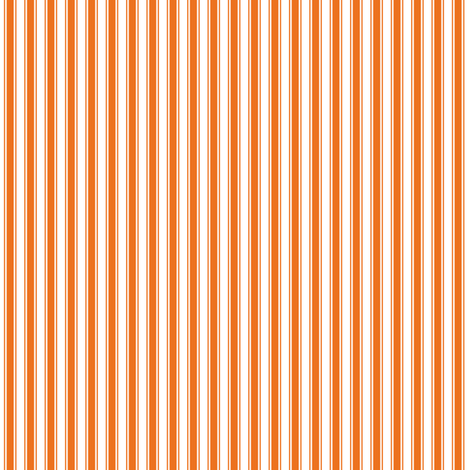 ticking stripes orange fabric by misstiina on Spoonflower - custom fabric