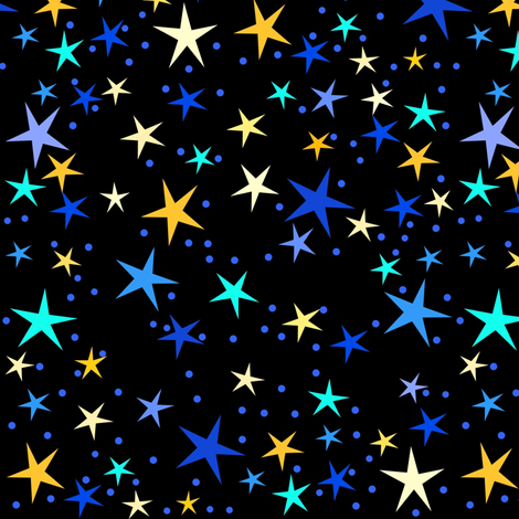 Starry Night Sky fabric by painter13 on Spoonflower - custom fabric