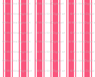 ticking stripes hot pink