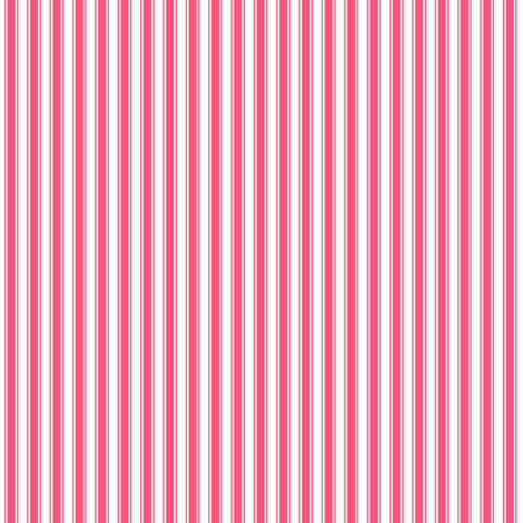 ticking stripes hot pink fabric by misstiina on Spoonflower - custom fabric