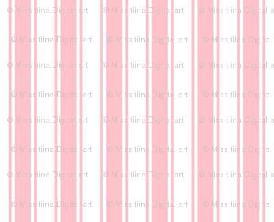 ticking stripes light pink