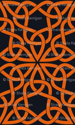 Triangle Knot Orange and Black