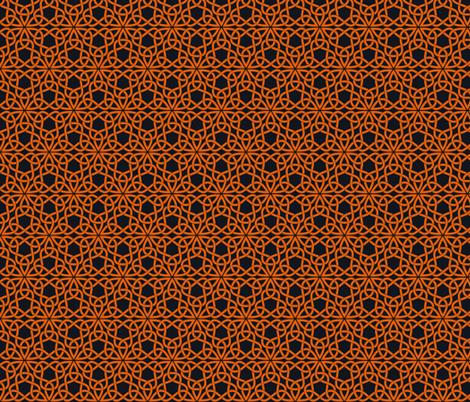Triangle Knot Orange and Black fabric by shala on Spoonflower - custom fabric