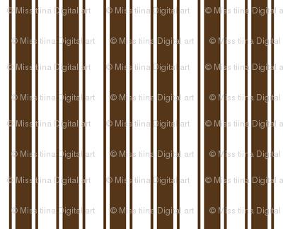 ticking stripes brown