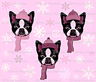 FROSTY PINK TERRIERS