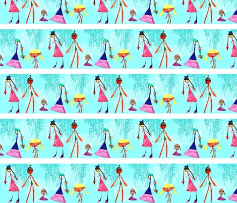 Maddy's Dolls - Runway fabric by heathermann on Spoonflower - custom fabric