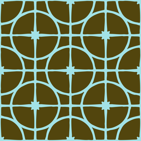 Xmas Lounge Ornaments in Nets Olive fabric by jumeaux on Spoonflower - custom fabric