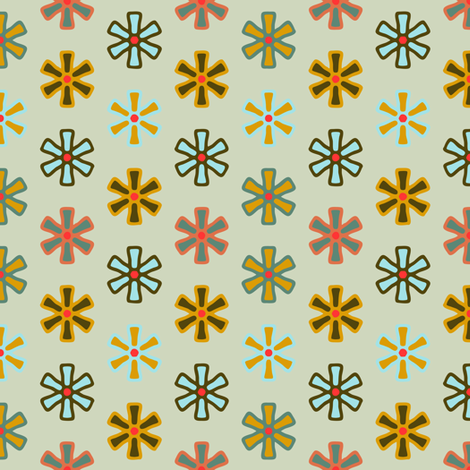 Xmas Lounge Twinkles on Light Green fabric by jumeaux on Spoonflower - custom fabric