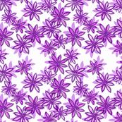 Random Flower Pattern in layers - purple shades