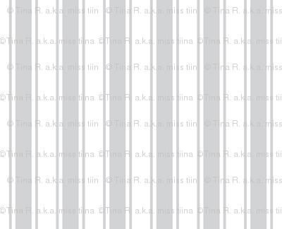 ticking stripes light grey