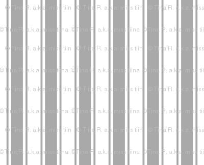 ticking stripes grey