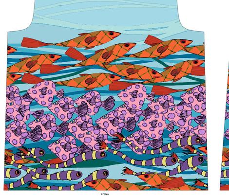 Riviera Tee fabric by linsart on Spoonflower - custom fabric