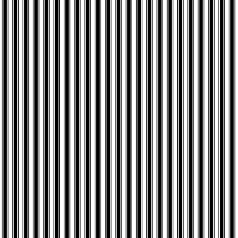 ticking stripes black fabric by misstiina on Spoonflower - custom fabric