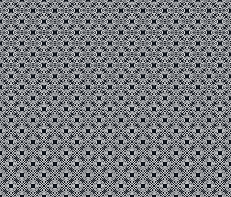 Square Knot Black and White fabric by shala on Spoonflower - custom fabric