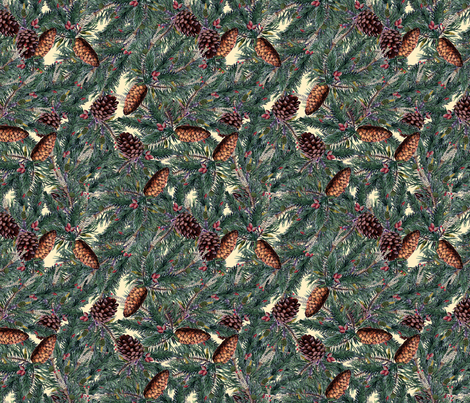 Evergreens fabric by poshcrustycouture on Spoonflower - custom fabric