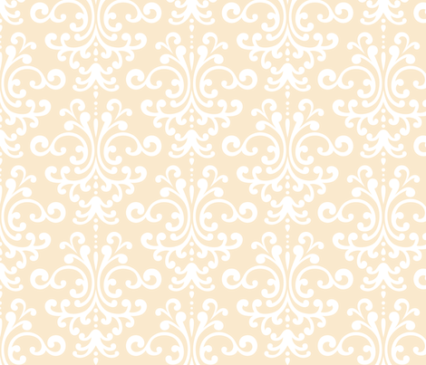 damask lg ivory fabric by misstiina on Spoonflower - custom fabric