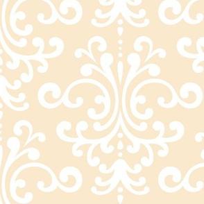 damask lg ivory