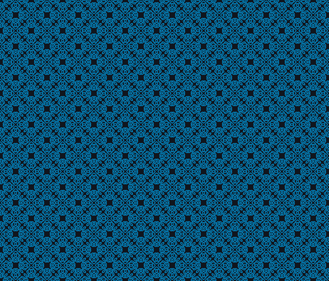 Square Knot Blue and Black fabric by shala on Spoonflower - custom fabric