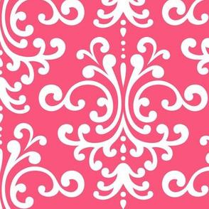 damask lg hot pink