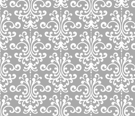 damask lg grey fabric by misstiina on Spoonflower - custom fabric