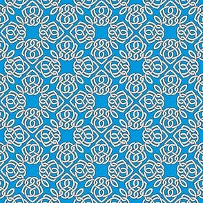 Square Knot Blue