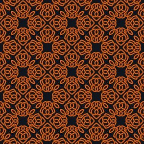 Square Knot Orange and Black