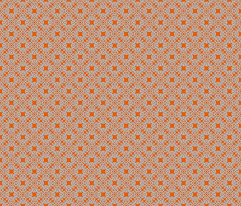 Square Knot Orange fabric by shala on Spoonflower - custom fabric