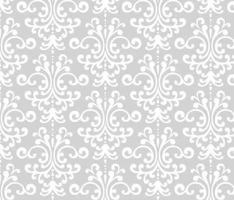damask lg light grey fabric by misstiina on Spoonflower - custom fabric
