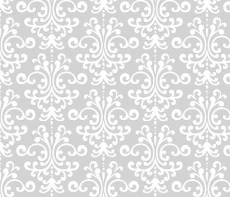 damask lg light grey fabric by misstiina on Spoonflower - custom fabric