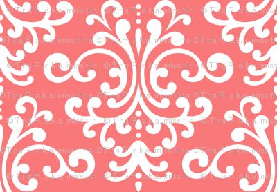 damask lg coral