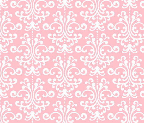 damask lg light pink fabric by misstiina on Spoonflower - custom fabric