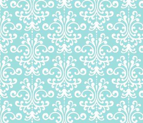 damask lg light teal fabric by misstiina on Spoonflower - custom fabric