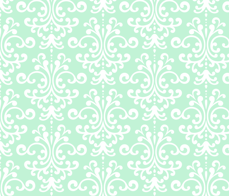 damask lg ice mint green fabric by misstiina on Spoonflower - custom fabric