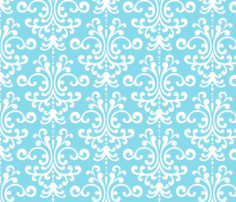 damask lg sky blue fabric by misstiina on Spoonflower - custom fabric