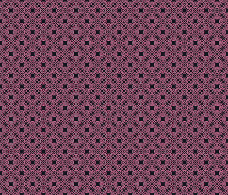 Square Knot Pink and Black fabric by shala on Spoonflower - custom fabric