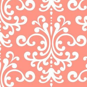 damask lg peach