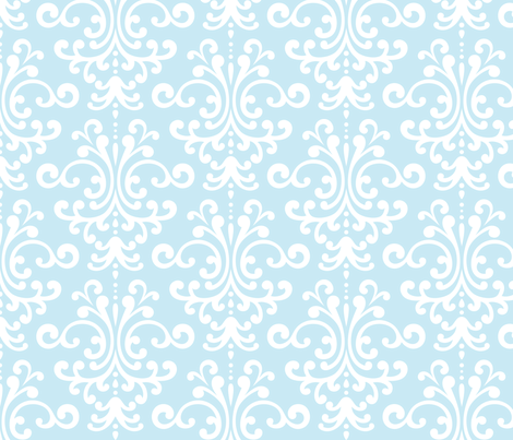damask lg ice blue fabric by misstiina on Spoonflower - custom fabric