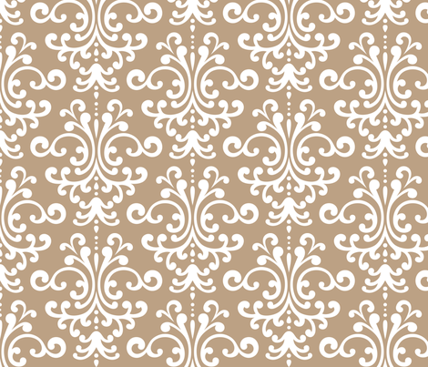 damask lg tan fabric by misstiina on Spoonflower - custom fabric
