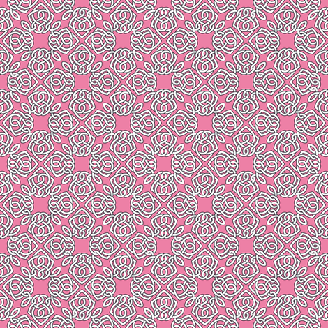 Square Knot Pink fabric by shala on Spoonflower - custom fabric