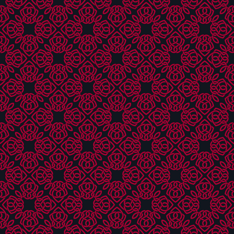 Square Knot Red and  Black fabric by shala on Spoonflower - custom fabric