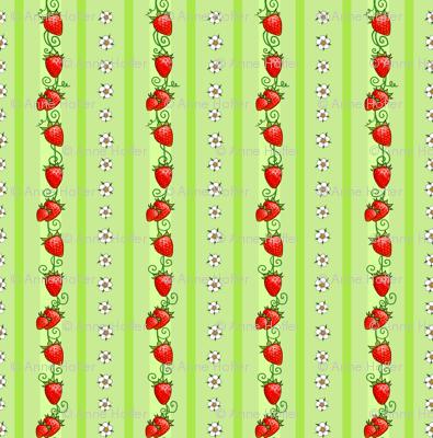 Strawberry Stripes Green