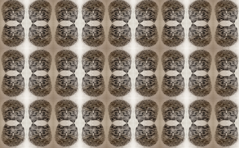 Vintage Cat Mirror fabric by kimvred on Spoonflower - custom fabric